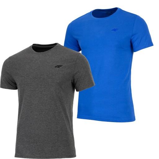 4F ZESTAW 2szt. MĘSKA KOSZULKA T-SHIRT / rozm L 10424851136 Odzież Męska T-shirty QZ LQTYQZ-3
