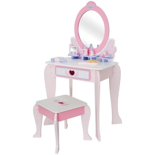 Drewniana Toaletka Dla Dziewczynki Lustro 6 Akc 9923115425 Allegro Pl
