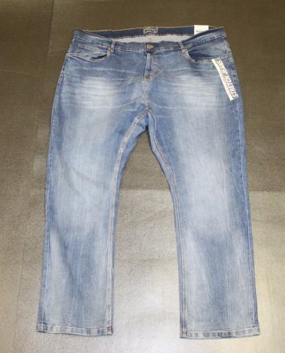 7XL BIG MEN DUŻE JASNE WYCIERENANE SPODNIE PAS 132 10752261906 Odzież Męska Spodnie XA FKVPXA-1