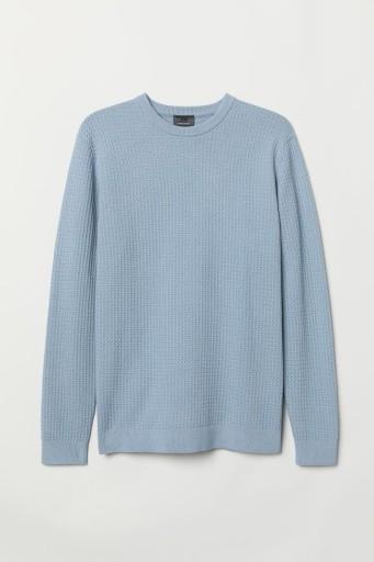 H&M 38 M MĘSKI Sweter z bawełny premium 10662864722 Odzież Męska Swetry GX KQVWGX-9