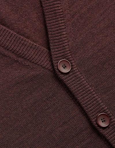 Kardigan męski wełna merynos fabriano bordowy XL 9933868978 Odzież Męska Swetry KR QWJHKR-9