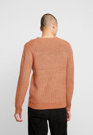 C36D001 SWETER BRĄZOWY JACK & JONES PREMIUM XS 10779924805 Odzież Męska Swetry CK SZYCCK-9
