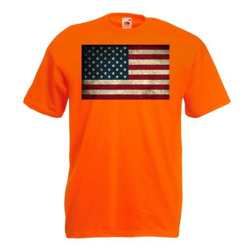 Koszulka z nadrukiem flaga USA Stany Ameryka S 10515343828 Odzież Męska T-shirty CV AALBCV-9