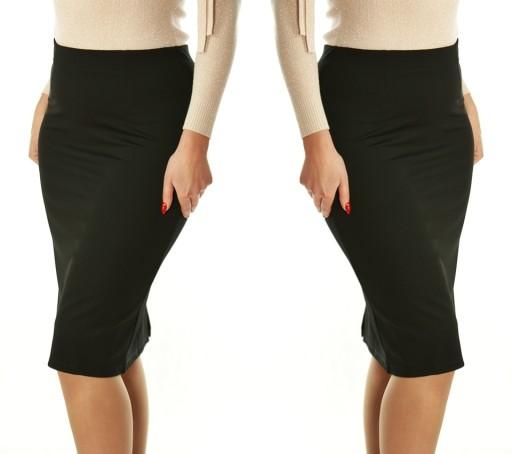 Klasyczna ołówkowa elegancka spódnica midi 1128#M