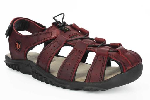 Wygodne sandały Lesta 1095 czerwony R43 10549411461 Obuwie Męskie Męskie UV KHHRUV-7
