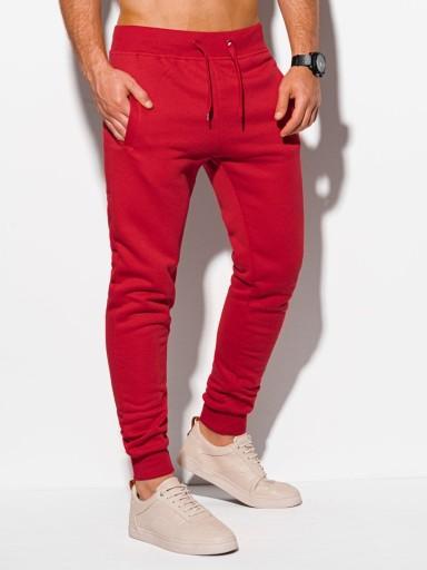 Spodnie męskie dresowe 928P czerwone XL 9961088944 Odzież Męska Spodnie QK LNCBQK-2