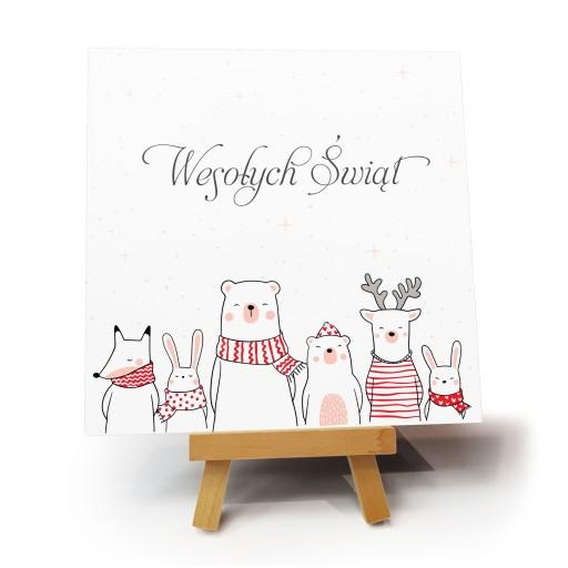"""Kartka bożonarodzeniowa """"Bears"""""""