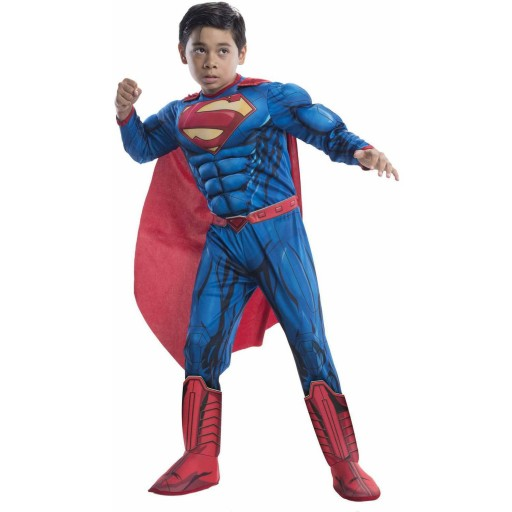 SUPERMAN KOSTIUM Z MIĘŚNIAMI STRÓJ 3-4 L LICENCJA