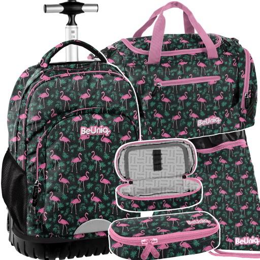 Zestaw Plecak Na Kolkach Beuniq Flamingi 4 Elem 9450613445 Allegro Pl