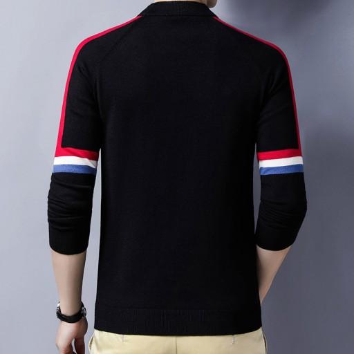 Sweter męski z okrągłym dekoltem 10709690507 Odzież Męska Swetry QU CYAUQU-4