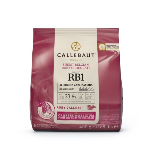 Czekolada RUBY Rubinowa Callebaut różowa 400g