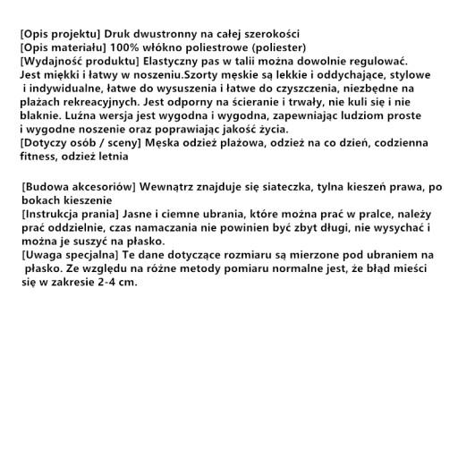 Szorty Plażowe Ybn-703-B039 Rozmiar:XXL Arturo Vid 9552330997 Odzież Męska Spodenki ZW ESQIZW-2