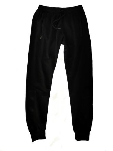 Spodnie dresowe męskie tureckie czarne Bawełna 9732848215 Odzież Męska Spodnie YJ LBOHYJ-2
