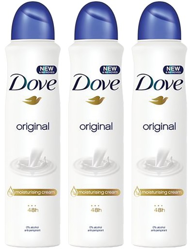 Dove Original Antyperspirant Spray 3 x 250ml