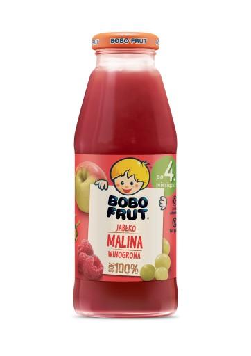BOBO FRUT sok jabłko malina winogrona 300ml