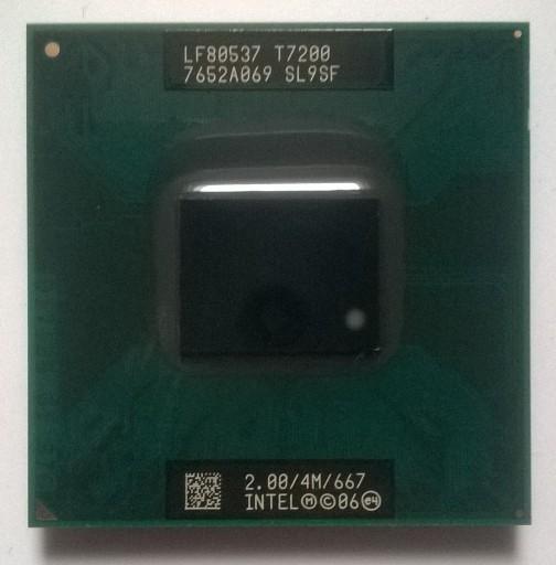 Intel Core 2 duo T7200 2.00GHz 667Mhz FSB 4MB