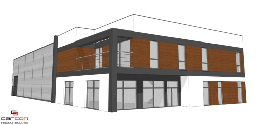 Projekt i budowa Biuro + Hala stalowa z Antresolą