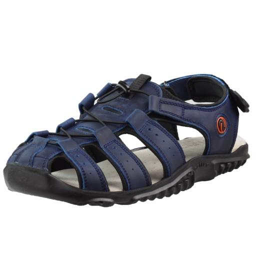 Niebieskie Sandały męskie Lesta 1095 44 10727277035 Obuwie Męskie Męskie ZL QDXBZL-6
