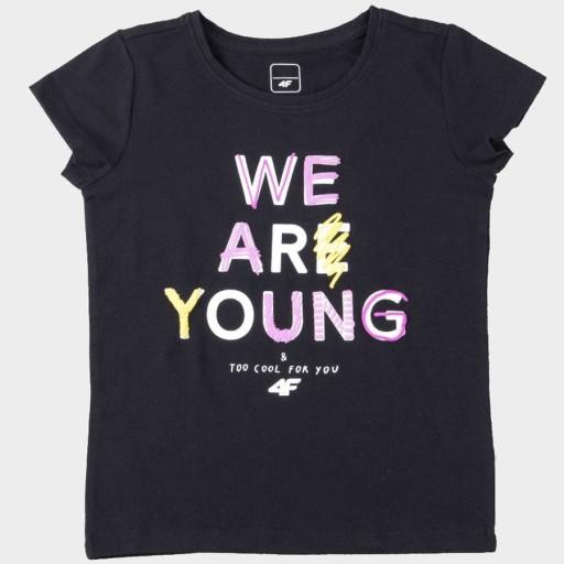 T-shirt 4F HJZ20-JTSD002A 20S - CZARNY; 128 CM 9908253195 Odzież Męska T-shirty ZH RDLOZH-1