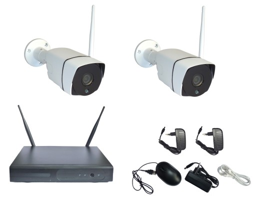 Bezprzewodowy Zestaw Do Monitoringu 2 Kamery Wifi 9569916501 Sklep Internetowy Agd Rtv Telefony Laptopy Allegro Pl