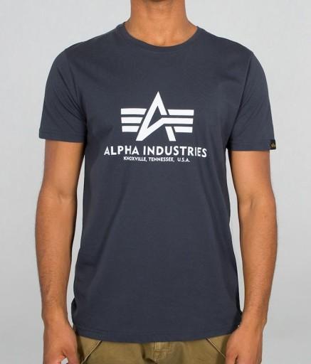 T-shirt koszulka ALPHA INDUSTRIES BASIC 100501 02 10637027664 Odzież Męska T-shirty PQ ABFXPQ-6