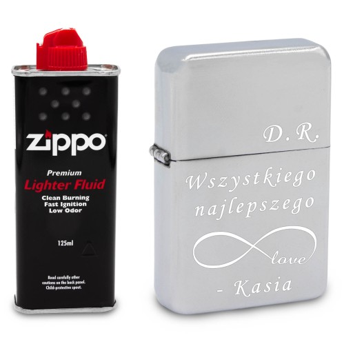 Zapalniczka Benzynowa Srebrna Z Grawerem Zippo 8004940023 Allegro Pl