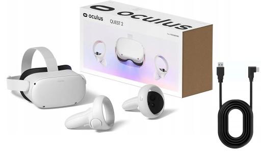 Oculus Quest 2 64GB GOGLE VR Okulary + KABEL LINK