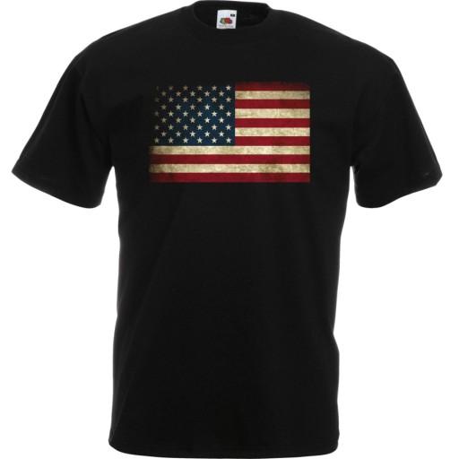 Koszulka z nadrukiem flaga USA Stany Ameryka XXL 10515346866 Odzież Męska T-shirty TM AINHTM-1
