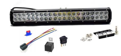 PANELIS LED ZIBINTAS (LEMPOS-FAROS) HALOGENAS LEDBAR OFF ROAD 50cm 126W