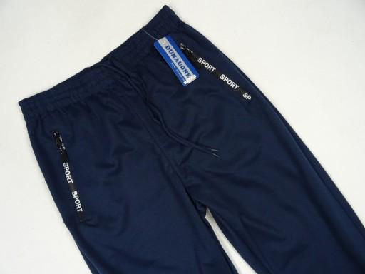 SPODNIE sportowe cienkie DUNAUONE GRANAT L sc. 10763424627 Odzież Męska Spodnie DS BUISDS-9