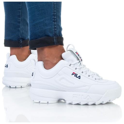 białe oryginalne damskie buty fils tanio