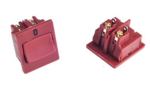 Włącznik kołyskowy 4pin/2poz. brązowy