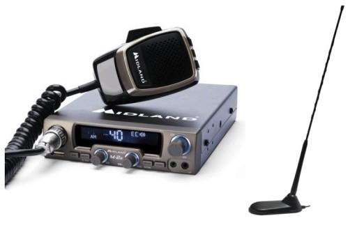 RADIO CB MIDLAND M-20 + ANTENA PRESIDENT VIRGINIA