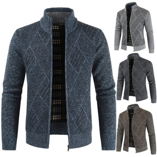 zie sweter z zamkiem błyskawicznym Dzianina męska 9814375243 Odzież Męska Swetry YS ZYUXYS-6