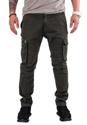 Abaco BOJÓWKI slim zieleń prosta nogawka R.36 9671353975 Odzież Męska Spodnie VB FKKRVB-2