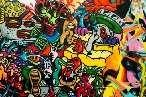 Fototapeta Na Wymiar Graffiti Mural Napisy Spray 9513052209 Allegro Pl