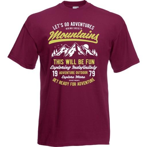 Koszulka gÓry natura wspinaczka przygoda sport M 10520927990 Odzież Męska T-shirty AL QIMQAL-6