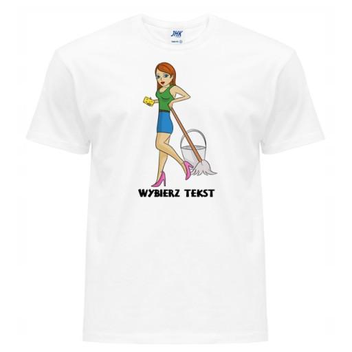 KOSZULKA MĘSKA T-SHIRT SPRZĄTACZKA POKOJÓWKA L 9904027095 Odzież Męska T-shirty UH BAMDUH-2