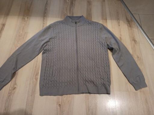 Szary sweter XXL 2nd chapter, wzÓr warkocz 9842506243 Odzież Męska Swetry OY EDOTOY-8
