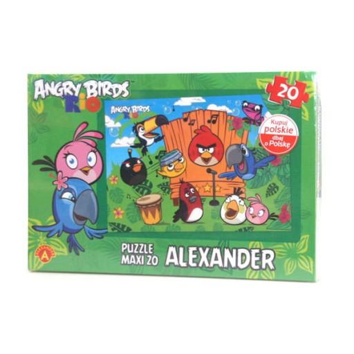Puzzle 20 El Maxi Angry Birds Rio Na Scenie Gigant 9131840540 Allegro Pl