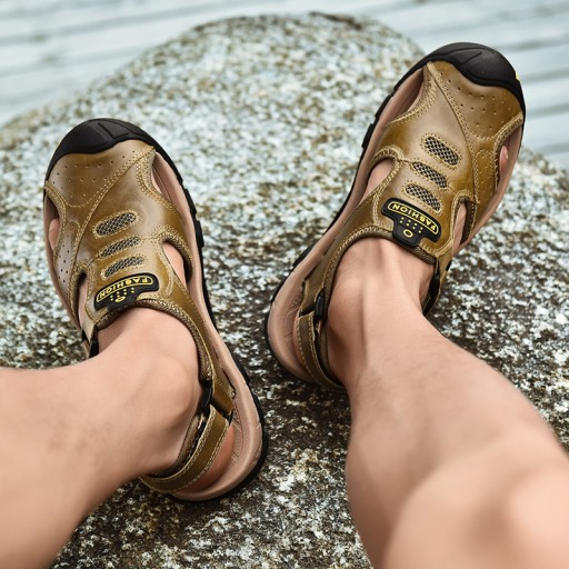 Sandały buty robocze trekkingowe męskie skorzane 10556170887 Obuwie Męskie Męskie NX CTPONX-2