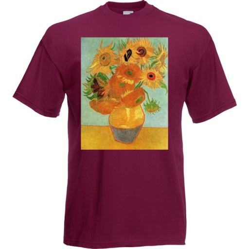 Koszulka z nadrukiem Van Gogh słoneczniki XL 10517463101 Odzież Męska T-shirty RN RPARRN-4