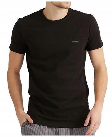 DIESEL Intensywnie Czarna Koszulka Logo O-neck XL 9640867338 Odzież Męska T-shirty QF JVNSQF-8