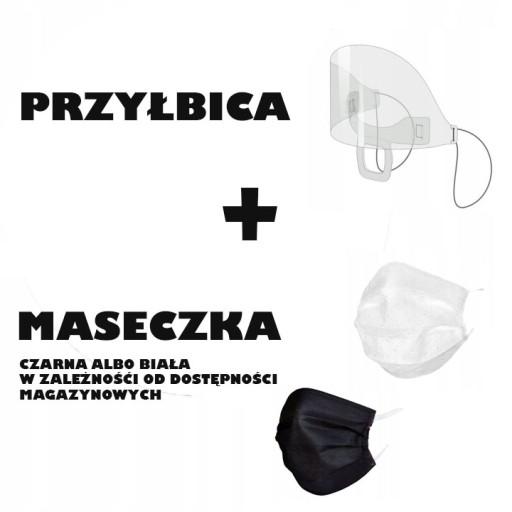 MINI przyłbica Maska ochronna osłona na usta i nos доставка из Польши Allegro на русском