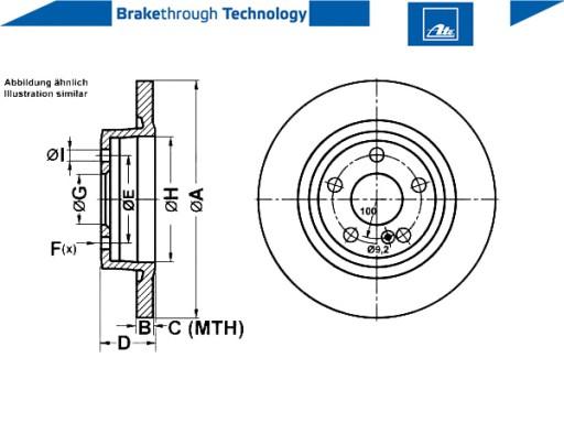 2 x 1 Disque de frein frein à disque UAT 24.0110-0382.1