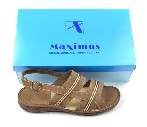 023 polskie wygodne sandały skÓrzane MAXIMUS BR 44 9113104079 Obuwie Męskie Męskie OW QVNQOW-7