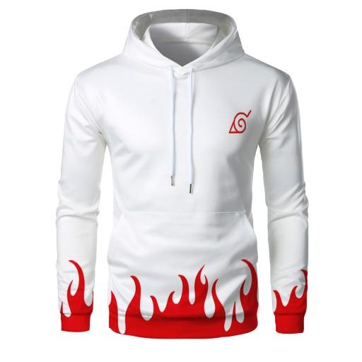 ukiem cyfrowym w czerwonym płomieniu Sweter męski 9813459520 Odzież Męska Swetry LH UGLALH-3