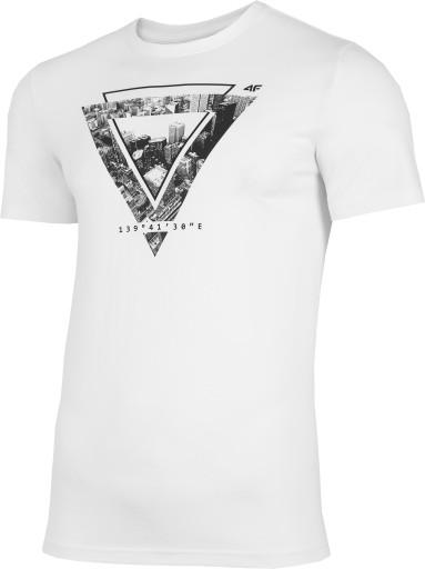 BAWEŁNIANA KOSZULKA MĘSKA 4F L21 TSM022 10S L 10507840319 Odzież Męska T-shirty WK ONHDWK-6