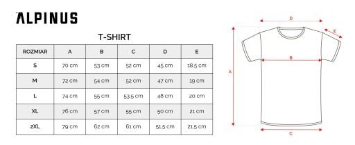 Koszulka męska Alpinus Outdoor ALP20TC0033 r.2XL 9911310631 Odzież Męska T-shirty MH CZNGMH-6