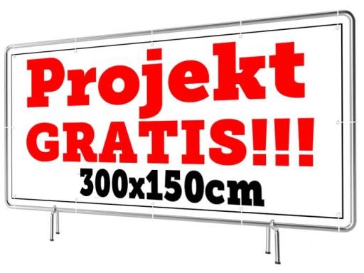 Baner Reklamowy Wzory 300x150cm - Projekt Gratis